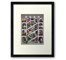Crossed staircase in Lego® Framed Print