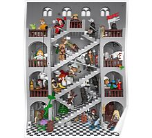 Crossed staircase in Lego® Poster
