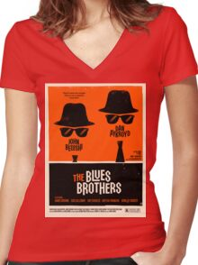 classic movie : The Blues Brothers Women's Fitted V-Neck T-Shirt