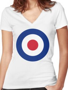 RAF Roundel Women's Fitted V-Neck T-Shirt