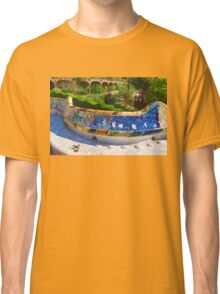 Gaudi's Park Guell - Impressions Of Barcelona Classic T-Shirt