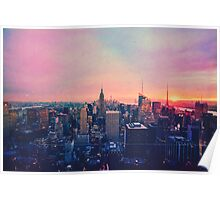 Runway, Houses, City, Clouds Poster