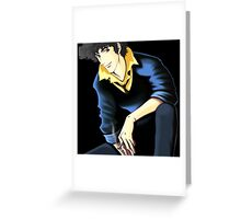 Spike Spiegel from the Anime/Manga Cowboy Bebop: Original Digital Painting Greeting Card