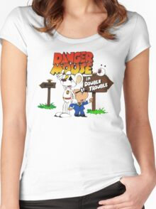 DOUBLE TROUBLE MOUSE Women's Fitted Scoop T-Shirt