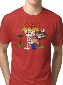 DOUBLE TROUBLE MOUSE Tri-blend T-Shirt