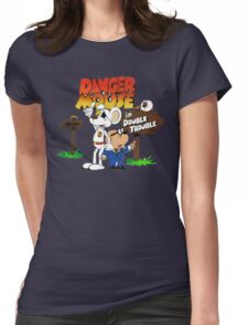 DOUBLE TROUBLE MOUSE Womens Fitted T-Shirt