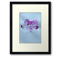 Love. Framed Print