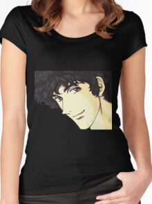 Spike Spiegel from the Anime/Manga Cowboy Bebop Original Digital Painting (face only) Women's Fitted Scoop T-Shirt