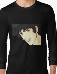 Spike Spiegel from the Anime/Manga Cowboy Bebop Original Digital Painting (face only) Long Sleeve T-Shirt