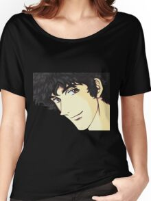 Spike Spiegel from the Anime/Manga Cowboy Bebop Original Digital Painting (face only) Women's Relaxed Fit T-Shirt