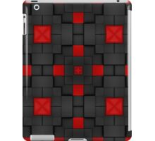 Pattern 83: Gray and red building blocks in 3D iPad Case/Skin