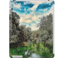 Cypress trees reflecting into the waters of Blue Spring State Park in Florida iPad Case/Skin