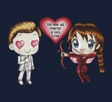 The Cute Version Of The Hunger Games (Love Themed Hand-Drawn Illustration) One Piece - Short Sleeve