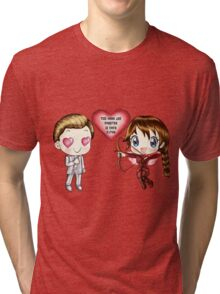 The Cute Version Of The Hunger Games (Love Themed Hand-Drawn Illustration) Tri-blend T-Shirt