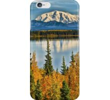 Reflections on Willow Lake of the Wrangell Mountains iPhone Case/Skin