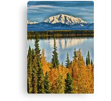 Reflections on Willow Lake of the Wrangell Mountains Canvas Print