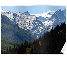 Snow Capped Mountains in Alaska Poster