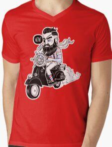 Vespa : Enjoy The Ride Mens V-Neck T-Shirt