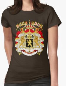 Great Coat of Arms of Belgium Womens Fitted T-Shirt