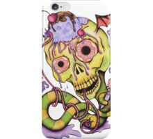 Sweet Death Skull - Cherries, Ice Cream and Donuts iPhone Case/Skin