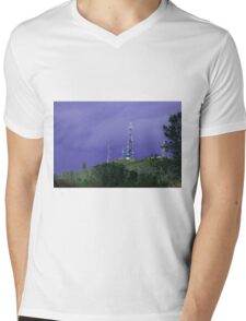 Radio Towers On Pine Hill Mens V-Neck T-Shirt