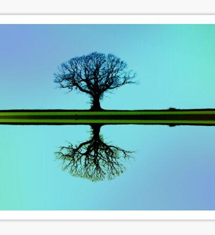 Blue Tree Symmetry Sticker