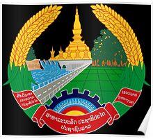 Emblem of Laos Poster