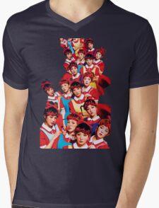 Red Velvet The Red White Ver Kpop Mens V-Neck T-Shirt