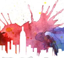 New York Colourful Skyline 1 Sticker