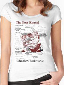 Charles Bukowski Women's Fitted Scoop T-Shirt