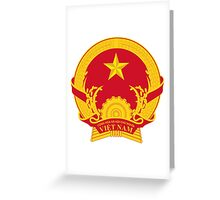 Coat of Arms of Vietnam Greeting Card
