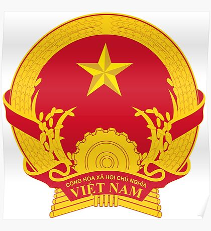 Coat of Arms of Vietnam Poster