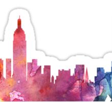 New York Colourful Skyline 2 Sticker
