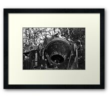 Rusty Old Cement Mixer Framed Print