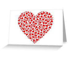 Chaotic Heart Fractal Greeting Card