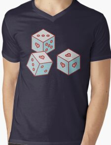 dices of love Mens V-Neck T-Shirt