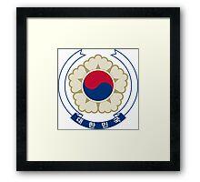 Emblem of South Korea Framed Print