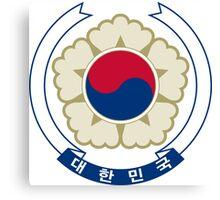 Emblem of South Korea Canvas Print