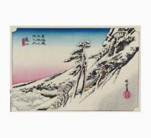 Kameyama - Hiroshige Ando - 1833 Kids Tee