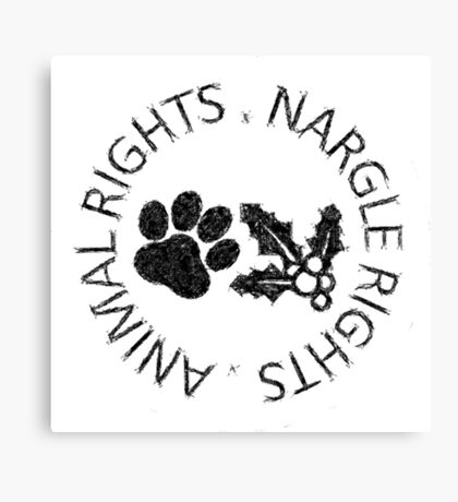 NARGLE RIGHTS Canvas Print