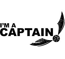 I'm a Captain Black Photographic Print