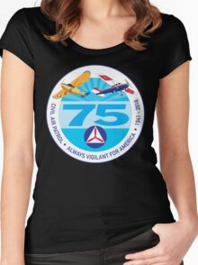 75 Years of Civil Air Patrol Women's Fitted Scoop T-Shirt