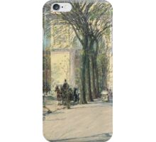 Childe Hassam - Washington Arch, Spring 1893 Washington American Impressionism Landscape iPhone Case/Skin