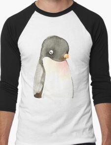 Mr. penguin Men's Baseball ¾ T-Shirt