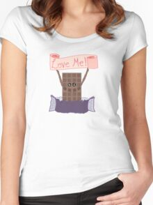 For the Love of Chocolate Women's Fitted Scoop T-Shirt