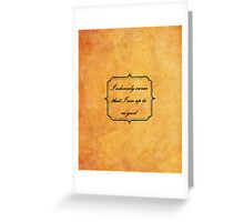 I solemnly swear that I am up to no good Greeting Card