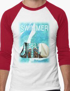 The Swimmer  Men's Baseball ¾ T-Shirt