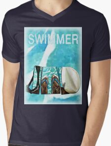 The Swimmer  Mens V-Neck T-Shirt
