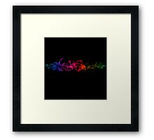 Colorful Crazy Cool Vape - Abstract Clouds Framed Print