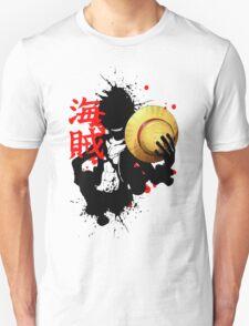 One Piece - Luffy (Pirate Kanji) Unisex T-Shirt
